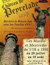 Animations médiévales au château de Peyrelade