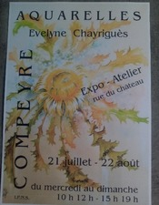 Exposition d'aquarelles Evelyne Chayriguès