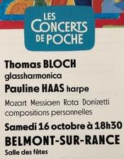 Concert de Poche avec Thomas Bloch et Pauline Haas
